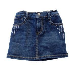 Gymboree Skirt Size 4 Blue Jean Denim  Dance Team